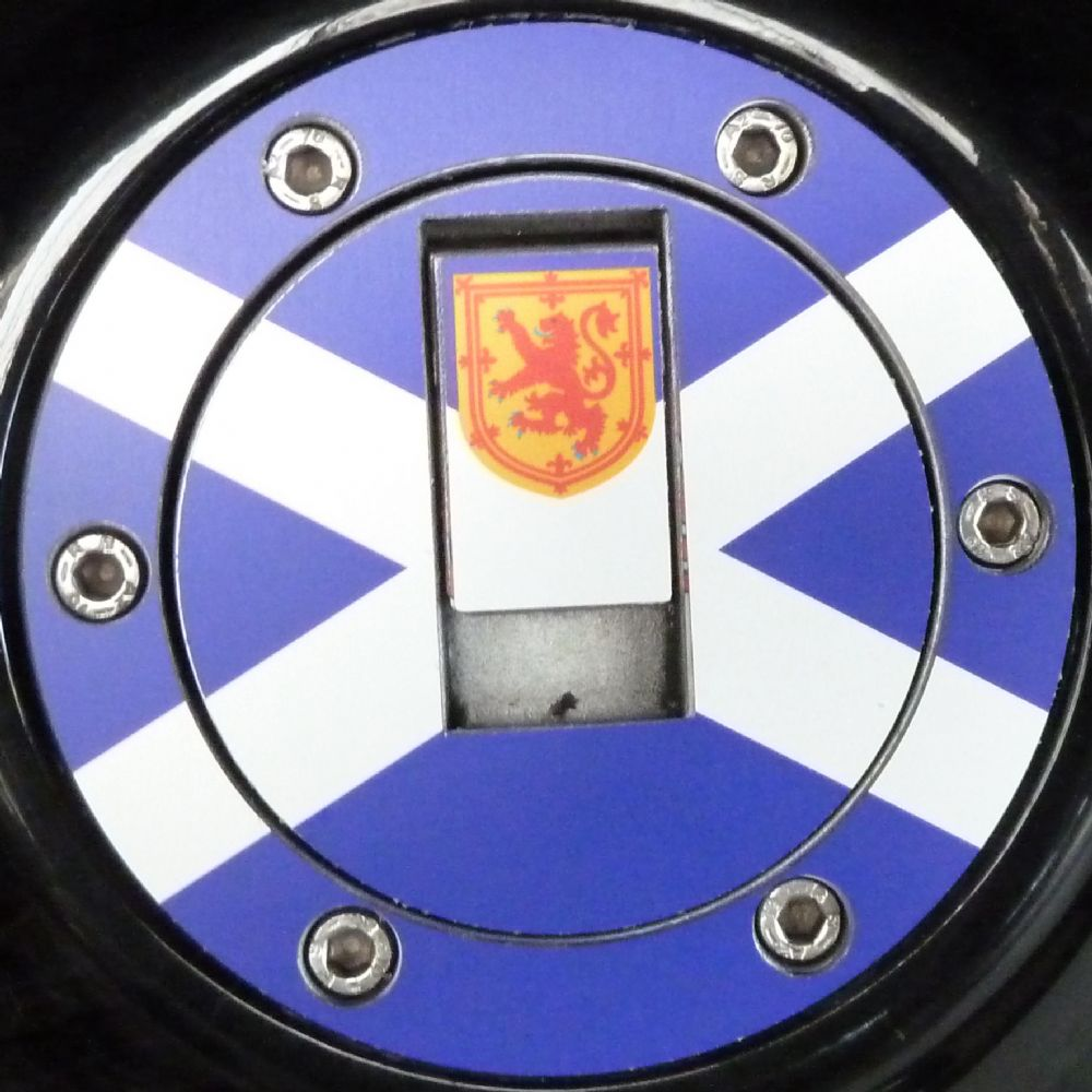 Triumph Petrol Gas Cap Aluminium Tank Decal Scotland The